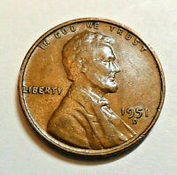 1951 D LINCOLN WHEAT CENT / PENNY COIN   FINE OR BETTER  SHIPS FREE