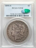 1895-S PCGS  CAC VF30 KEY DATE MORGAN SILVER DOLLAR LOW MINTAGE ONLY 400,000 PQ