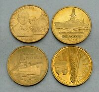 LOT OF 4 POLAND POLISH 2012 NORDIC GOLD 2 ZLOTY COMMEMORATIVE COINS  NICE