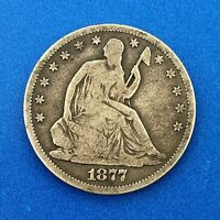 1877 CC SILVER SEATED LIBERTY HALF DOLLAR 50C BETTER  CARSON CITY MINT COIN