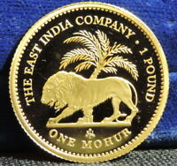 2014 EAST INDIA COMPANY ST HELENA ONE MOHUR GOLD PROOF HD VIDEO IN DESCRIPTION