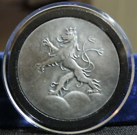 UNDATED GERMANY HEIDELBERG SILVER MEDAL LION AND CITY VIEW SILVER
