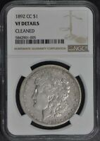 1892-CC MORGAN DOLLAR S$1 NGC VF DETAILS