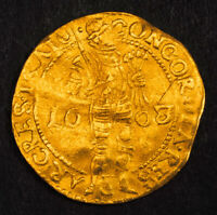 1608/3 NETHERLANDS UTRECHT  CITY .  GOLD KNIGHT DUCAT COIN.  VF  3.42GM