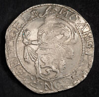1632 NETHERLANDS GELDERLAND. LARGE SILVER LION DAALDER  DOG DOLLAR  COIN. AU