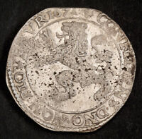 1671 NETHERLANDS WEST FRIESLAND. LARGE SILVER LION DAALDER  DOG DOLLAR  COIN.