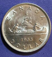 1935 CANADA SILVER DOLLAR   MINT STATE  MS