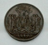 OLD 1887 GREAT BRITAIN ROYAL MINT 77MM GOLDEN JUBILEE MEDAL BY BOEHM  NICE