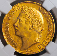 1841 WURTTEMBERG WILLIAM I. GOLD 4 DUCAT