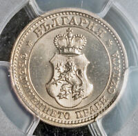1913 KINGDOM OF BULGARIA FERDINAND I. NICE CU NI 5 STOTINKI COIN. PCGS MS 65
