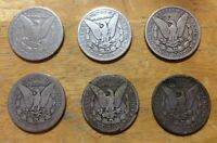 SIX 6 CARSON CITY 1878 CC 1882 CC 1883 CC 1891CC 1892 CC SILVER MORGAN DOLLAR $1