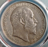 1902 GREAT BRITAIN EDWARD VII. CERTIFIED MATTE PROOF SILVER CROWN. PCGS PR 63
