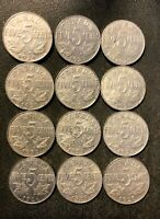 OLD CANADA COIN LOT   1922 1929   KING GEORGE V NICKELS   12