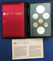 1980 CANADIAN DOUBLE DOLLAR MINT PROOF SET     50  SILVER $1