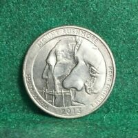 NATIONAL PARKS STATE QUARTER 2013 D MOUNT RUSHMORE SOUTH DAK