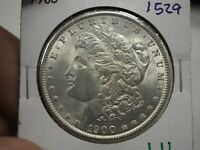 1900 $1 MORGAN SILVER DOLLAR  1529