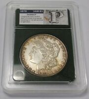 1878 7 TF MORGAN DOLLAR DOUBLED P VAM 81 R-4 VSS AU DETAILS CLEANED TONING