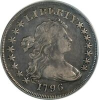 1796 S$1 SMALL DATE, SMALL LETTERS B-5, R.2 PCGS VF25 OLD HOLDER