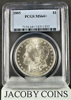 1885 MORGAN SILVER DOLLAR PCGS MINT STATE 64  SHARP AND BRIGHT