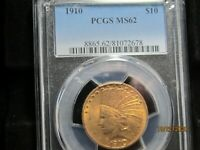GOLD   UNREAL LOOKING 1/2 OZ  INDIAN HEAD EAGLE  1910  PCGS