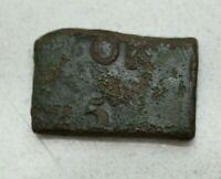 OLD 1625 SWEDEN SWEDISH 1/4 ORE FYRK HAMMERED KLIPPE COIN CUT FROM 1/2 ORE