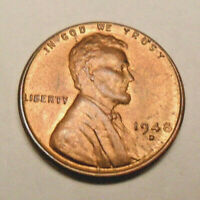 1948 D LINCOLN WHEAT CENT / PENNY BU / MS RED - MINT STATE RED SHIPS FREE