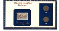 100 YEARS OF LINCOLN COINS & STAMP 1945-1946 LINCOLN DOUGLAS DEBATES