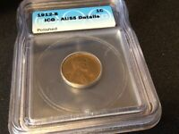 1912-S LINCOLN WHEAT CENT PENNY ICG AU55