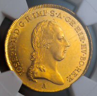 Click now to see the BUY IT NOW Price! 1786 AUSTRIAN NETHERLANDS JOSEPH II. LARGE GOLD SOUVERAIN D'OR COIN. NGC MS61