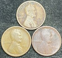 1918 P D S LINCOLN WHEAT PENNIES- SHIPS FREE 2
