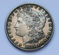 SEMI-KEY  1886-S U.S. MORGAN SILVER DOLLAR  EXTRA FINE CONDITION