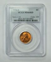 1954-S LINCOLN WHEAT CENT PCGS MINT STATE 66RD