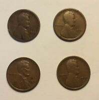 4 FOUR KEY DATE 1909 S 1914 D 1931 S 1922 D LINCOLN WHEAT CENT PENNY 1C