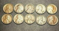 1921S CENT PENNY LOT OF 10 - VG