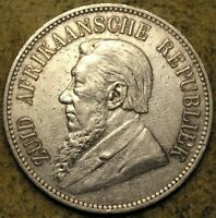 SOUTH AFRICA Z.A.R: 1892 PAUL KRUGER SILVER 5 SHILLINGS S/S