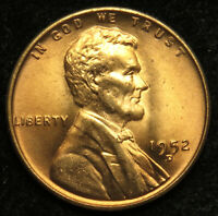 1952 D UNCIRCULATED LINCOLN WHEAT CENT PENNY BU B05
