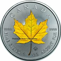2020 CANADA MAPLE LEAF 4 SEASONS YELLOW 1 OUNCE SILVER   COL