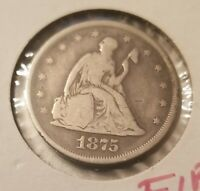 1875 P SEATED LIBERTY 20 CENT PIECE