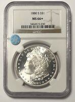 MORGAN SILVER DOLLAR 1880 S NGC MINT STATE 66