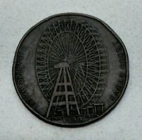 OLD 1900 GREAT BRITAIN BRITISH GIANT WHEEL AT EARL'S COURT MEDAL / TOKEN