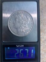 1884 S MORGAN SILVER DOLLAR EXTRA FINE , CLEANED-  DATE