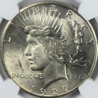 1927 PEACE DOLLAR NGC MINT STATE 62