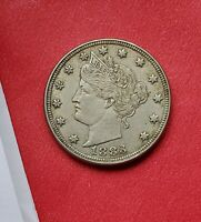 1883 WITH CENTS LIBERTY NICKEL AU GREAT STRIKE