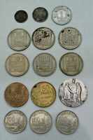 LOT OF 15 FRANCE FRENCH COINS / CIVIL MEDAL 1899 1979 INCLUDING SILVER  NICE