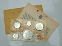 OLDER 1965 CANADA CANADIAN PROOF LIKE SET PENNY TO SILVER DOLLAR WITH COA