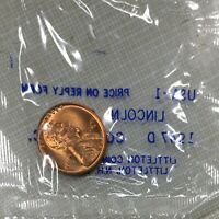 1947-D US LINCOLN WHEAT CENTS 1C UNCIRCULATED COIN IN LITTLETON PLASTIC BAG