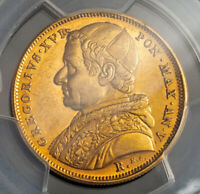 Click now to see the BUY IT NOW Price! 1835 VATICAN GREGORY XVI. LARGE GOLD 10 SCUDOS COIN.  17.34GM   PCGS AU 58