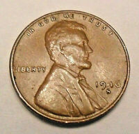 1946 S LINCOLN WHEAT CENT / PENNY COIN  FINE OR BETTER  SHIPS FREE