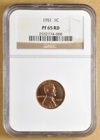 1951 PROOF LINCOLN WHEAT CENT NGC PF65RD