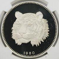 1980 CHI EQUATORIAL GUINEA TIGER 2000 EKUELE NGC PF 69 ULTRA CAMEO TOP POP